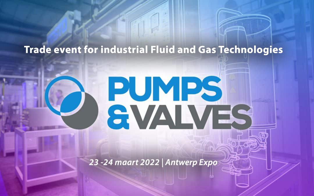 Pumps en Valves beurs op 23 en 24 maart 2022